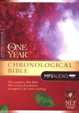 The NLT One-Year Chronological Bible  on MP3 CD