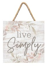 Live Simply Jute Hanging Decor