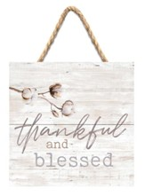 Thankful and Blessed Jute Hanging Decor