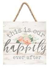 This Is Our Happily Ever After Jute Hanging Decor