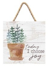 Today I Choose Joy Jute Hanging Decor