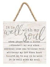 It Is Well With My Soul Jute Hanging Decor