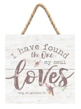 I Have Found One My Soul Loves Jute Hanging Decor