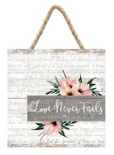 Love Never Fails Jute Hanging Decor