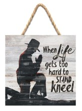 When Life Gets Jute Hanging Sign