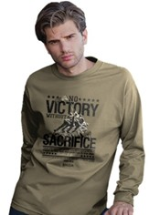 No Victory Without Sacrifice, Roosevelt, Long Sleeve Shirt, Khaki, 2Large