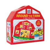 Around the Farm 2-Sided Floor Puzzle, 26 Pieces