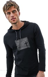 Seek...And You Will Find, Hooded Long Sleeve Shirt, Black, X-Large