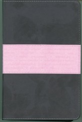 NIV One Year Bible Slimline Edition, TuTone Leatherlike Gray/Pink 1984