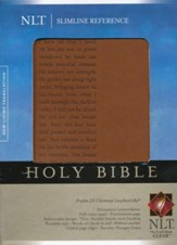 NLT Slimline Reference Bible, Leatherlike Chestnut Psalm 23