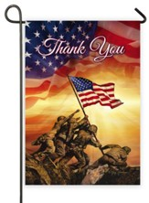 Thank You, Troops Memorial, Flag, Small
