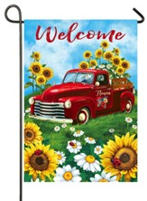 Welcome, Sunflower Truck Flag, Small