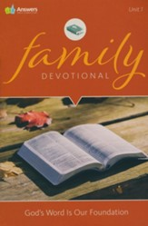 Answers Bible Curriculum Adults Unit 1 Family  Devotional (2nd Edition)