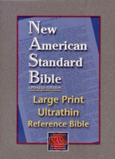 NASB Large-Print UltraThin Reference Bible--genuine leather, black - Slightly Imperfect
