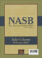 NASB Side-column Reference Wide Margin Bible - Genuine Leather, Black