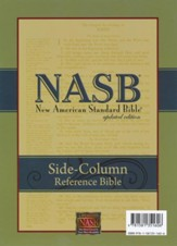 NASB Side-column Reference Wide Margin Bible - Calfskin Leather, Black