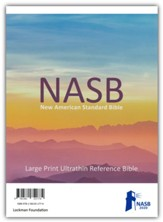 NASB 2020 Large-Print Ultrathin Reference Bible--genuine leather, black