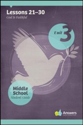 Answers Bible Curriculum Middle School Unit 3 Student Guide (2nd Edition)