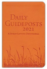 2021 Daily Guideposts--soft leather-look, yellow