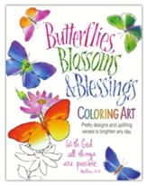 Butterflies, Blossoms and Blessings Coloring Art