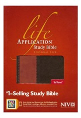 NIV Life Application Study Bible 2nd Edition, Personal Size  TuTone Brown/Tan LeatherLike
