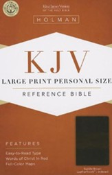 KJV Large Print Personal Size Reference Bible, Saddle Brown LeatherTouch, Thumb-Indexed
