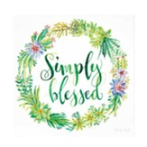 Simply Blessed Wall Plaque