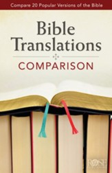 Bible Translations Comparison, Pamphlet - 5 Pack