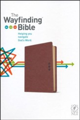 The NLT Wayfinding Bible, Brown/Tan LeatherLike - Imperfectly Imprinted Bibles