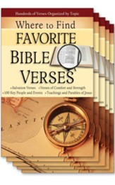 Where to Find Favorite Bible Verses, Pamphlet - 5 Pack