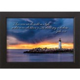 I Have Come into the World as a Light, Lighthouse, Framed Art