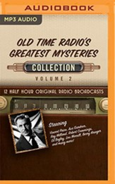 Old Time Radio's Greatest Mysteries, Collection 2 - 12 Half-Hour Radio Broadcasts on Radio Broadcasts MP3-CD