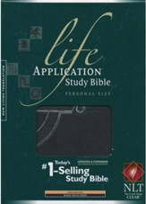 NLT Life Application Study Bible 2nd Edition, Personal Size  TuTone Black Celtic Cross Indexed Leatherlike