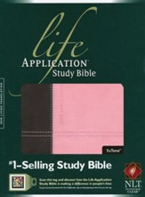 NLT Life Application Study Bible 2nd Edition, TuTone Dark  Brown/Pink Leatherlike