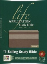 NLT Life Application Study Bible, Personal Size TuTone Taupe/Stone Leatherlike