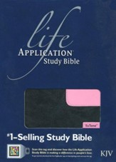 KJV Life Application Study Bible 2nd Edition, TuTone  Black/Patent Leather Pink Leatherlike