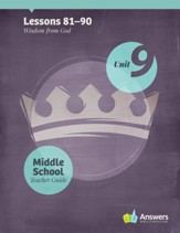 Answers Bible Curriculum Middle School Unit 9 Teacher Guide (2nd Edition)