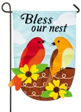 Bless Our Nest Applique Flag, Small