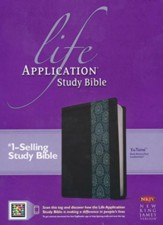 NKJV Life Application Study Bible 2nd Edition, TuTone Dark  Brown / Teal Imitation Leather
