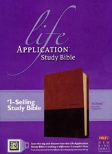 NKJV Life Application Study Bible 2nd Edition, TuTone  Leatherlike Brown/Tan Indexed