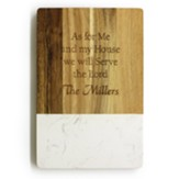 Personalized Cutting Board, Faux Marble, As For Me and  My House