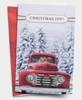 Christmas Joy, Red Truck, Christmas Cards, Box of 18