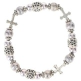 Godparent Beaded Bracelet with Crosses
