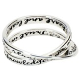 Proverbs 3:5-6 Double Mobius Ring, Size 8
