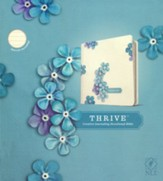 NLT THRIVE Creative Journaling Devotional Bible--hardcover, blue flowers