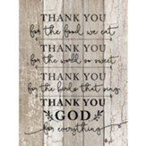 Thank you God Wall Plaque
