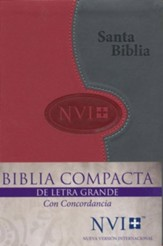 NVI Larger Print Bible - DuoTone Grey/Brick - Spanish