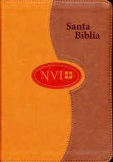 NVI Larger Print Bible - DuoTone Honey/Orange - Spanish