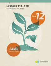 Answers Bible Curriculum Adults Unit 12 Teacher Guide (2nd Edition)