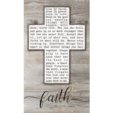 Faith, Cross, Wall Plaque